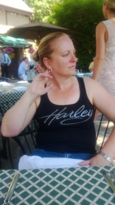 Debbie at the Old Angler's Inn