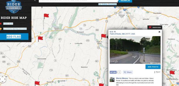 allstate rider risk map