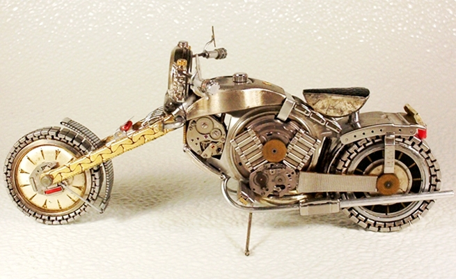 Motorcycle Art: Made from watch parts! | I JUST WANT 2 RIDE!!