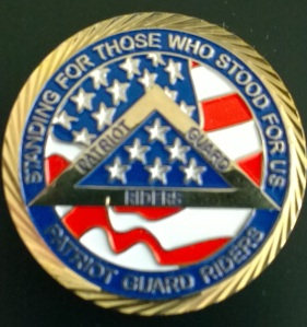 Patriot Guard Riders Challenge Coin.