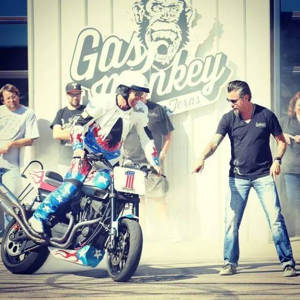 Bubba Blackwell at the Gas Monkey Garage.