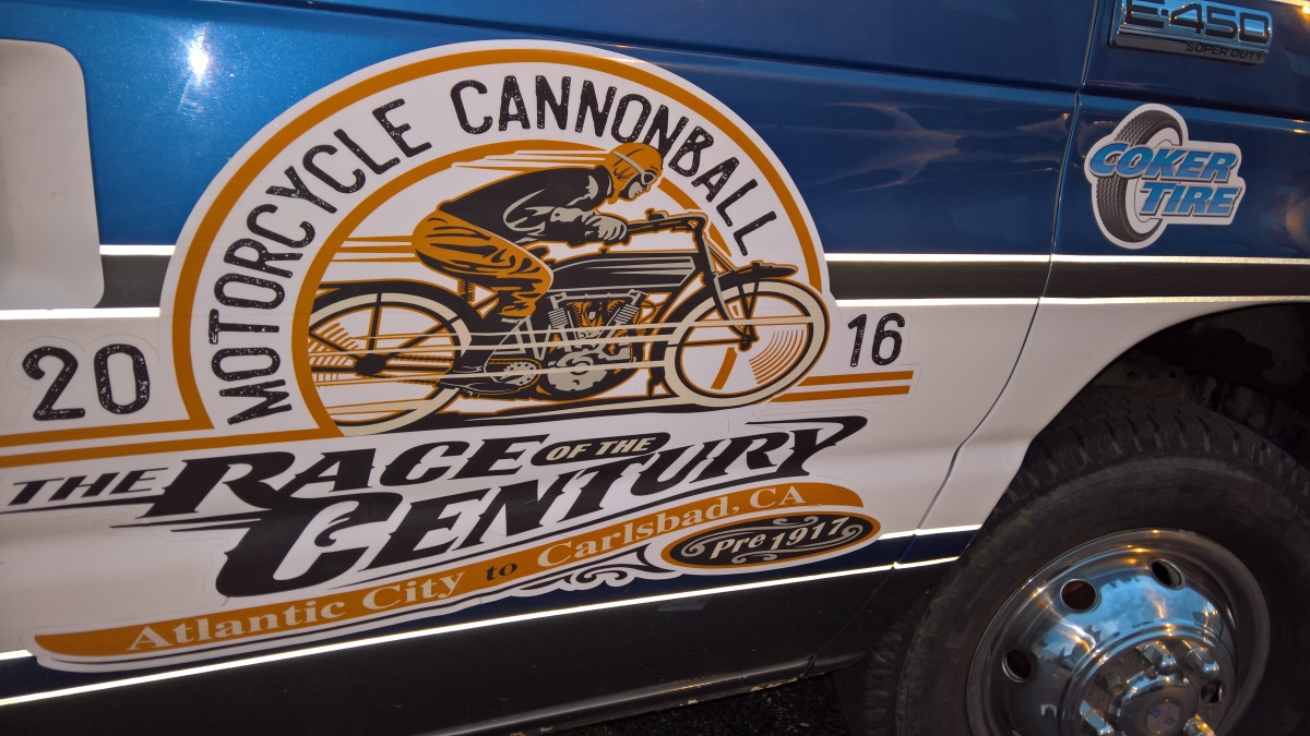 2016 Cannonball Run - All motorcycles are over 100 years old!