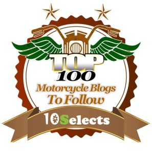 Badge of top 100 motorcycle blogs