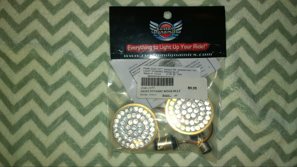 An overlooked non post from 2015. Custom Dynamics RINGZ LED Turn Signals.