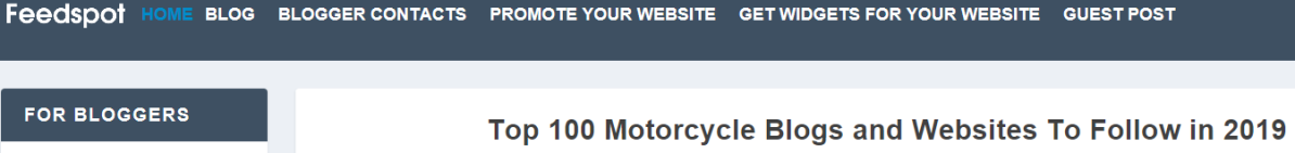 "WOW!  We are a ""Top 100 Motorcycle Blogs and Websites to Follow in 2019"